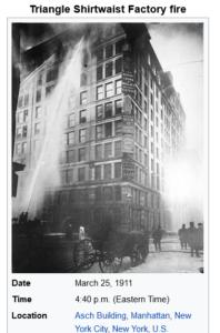 مبنى حريق عام 1911 فتبينوا
