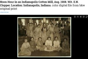 صورة النساء في مصنع القطن عام 1908 موقع library of congress فتبينوا