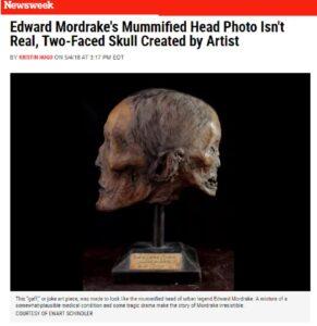 Newsweek موقع جمجمة موردراك فتبينوا