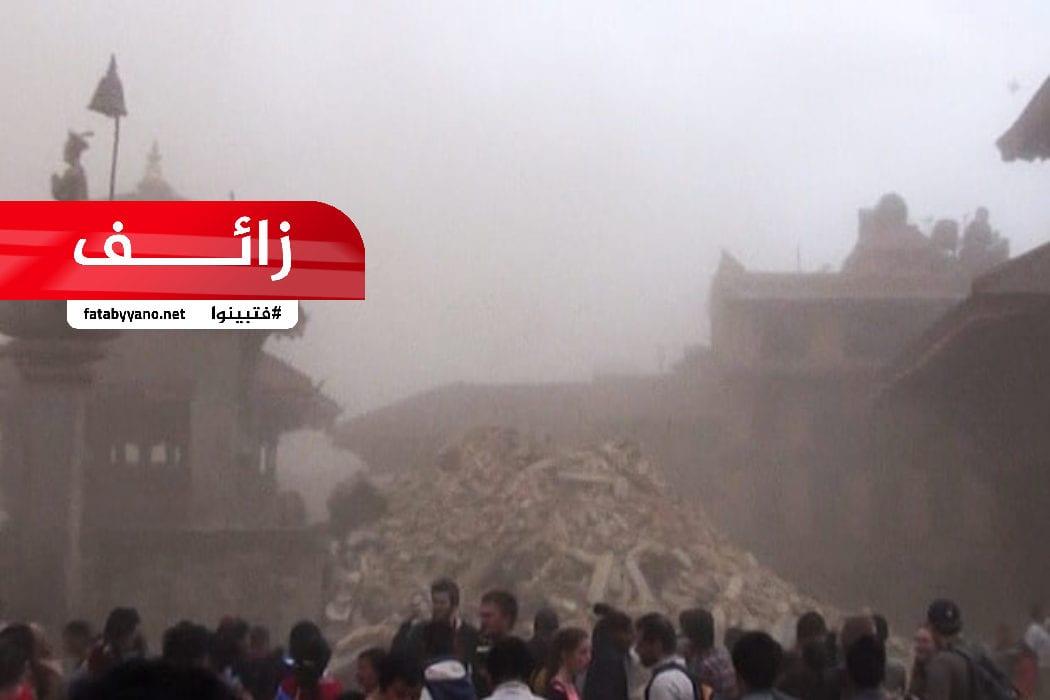 زلزال عنيف يدمر معابد البوذيين في بورما