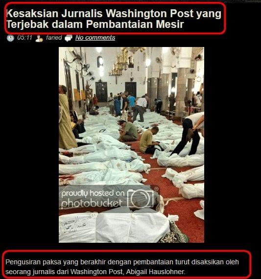الصورة ليست لضحايا مذبحة نيوزيلندا وإنما لضحايا وقتلى فض رابعة العدوية بمصر