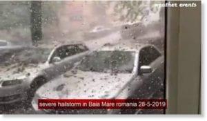 عاصفة ثلجية من البرد في رومانيا