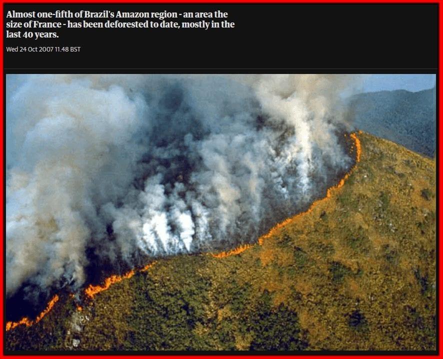صورة تعود لحرائق الأمازون 2007