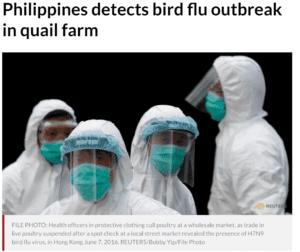 ظهور فيروس جديد من فصيلة انفلونزا الطيور في الفلبين