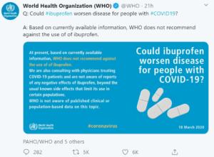 توصيات منظمة الصحة العالمية حول الأدوية