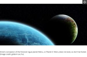 مشهد تقريبي لاقتراب لكوكب نيبيرو المزعوم والغير موجود من الأرض فتبينوا