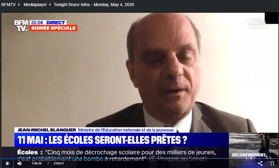 بداية الفقرة الجديدة للقاء وزير التعليم الفرنسي