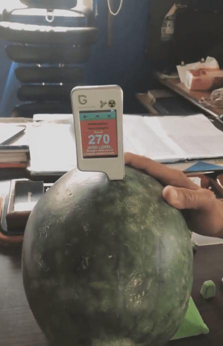 جهاز فحص البطيخ