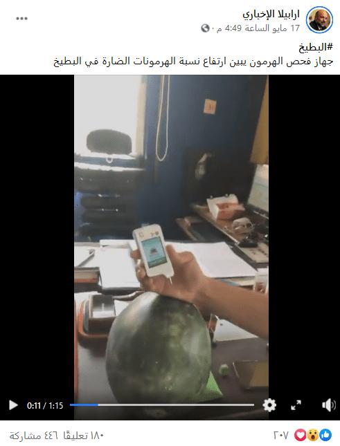 فحص البطيخ