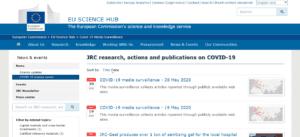 صفحة النشرة المتجدّدة من موقع الاتحاد الأوروبي التي تعرض فيها تحقيقات فتبينوا