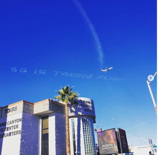 Source: The Skywriters - Skytyping & Sky Banners Facebook page