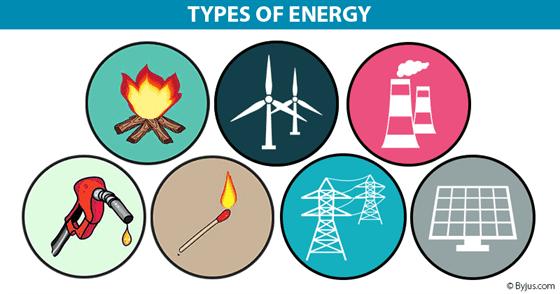 بعض أنواع الطاقة