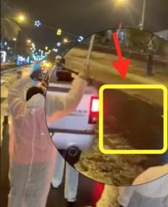 تبلل الشارع خلال عملية التعقيم مدينة العين