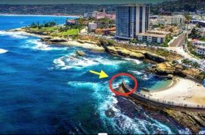 ساحل La Jolla الولايات المتحدة الأمريكية صورة موجة