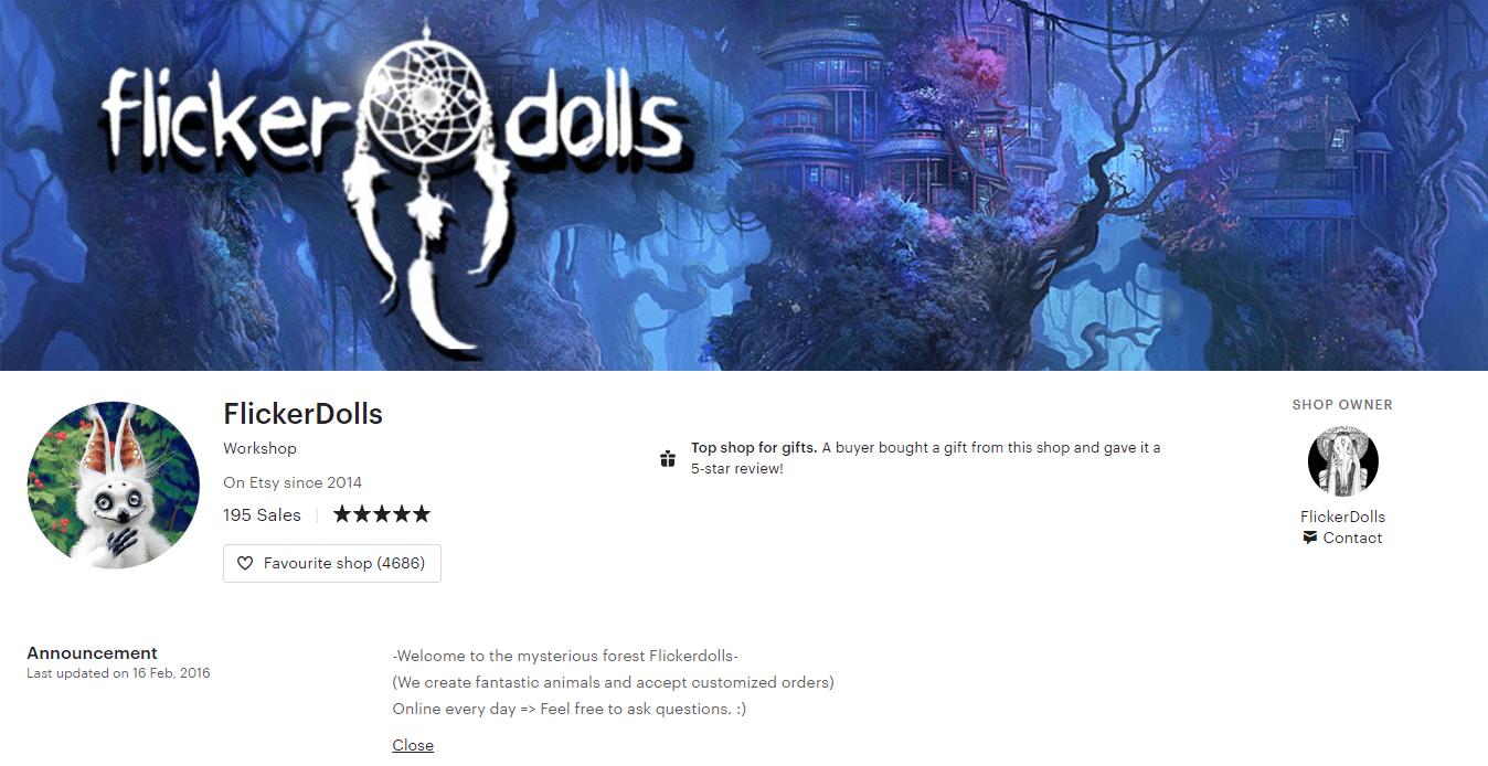 تعريف الفنان نفسه على موقع بيع تصاميم الحيوانات