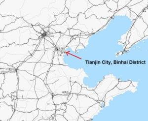 موقع مدينة الهام tianjin على الخريطة