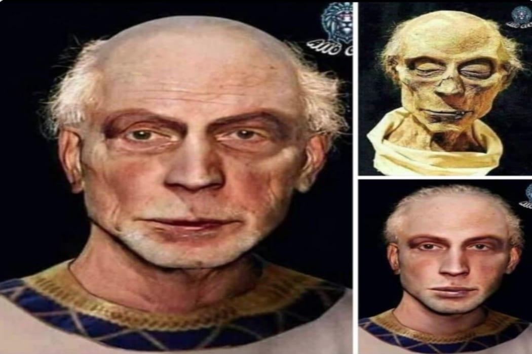 هذه محاولة تشكيل وجه رمسيس الثاني ولا دليل على أنه فرعون مصر الذي عاصر موسى ع فتبينوا