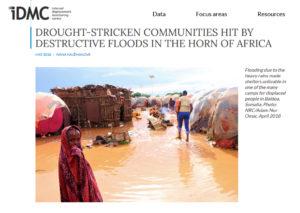 موقع iDMC ونشره لصورة طفلة في فيضانات الصومال وليس فيضانات السودان