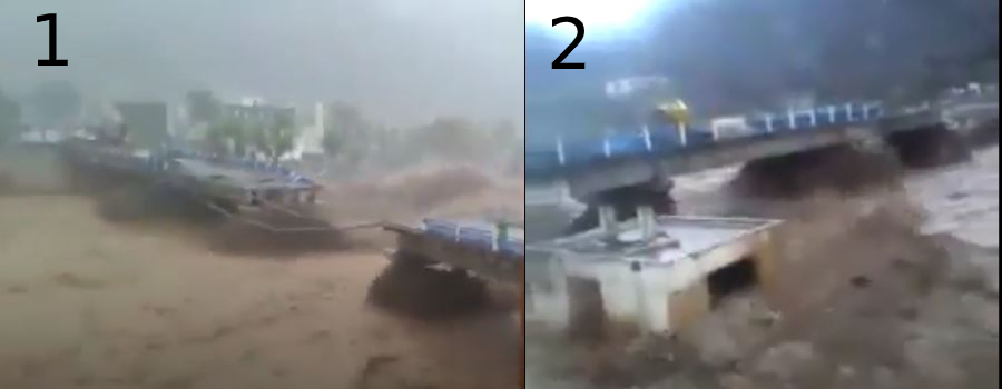 مقارنة 2 صور الجسر في محافظة حجة اليمن - فتبينوا