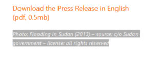 حقوق الملكية محفوظة لصورة فيضانات السودان عام 2013