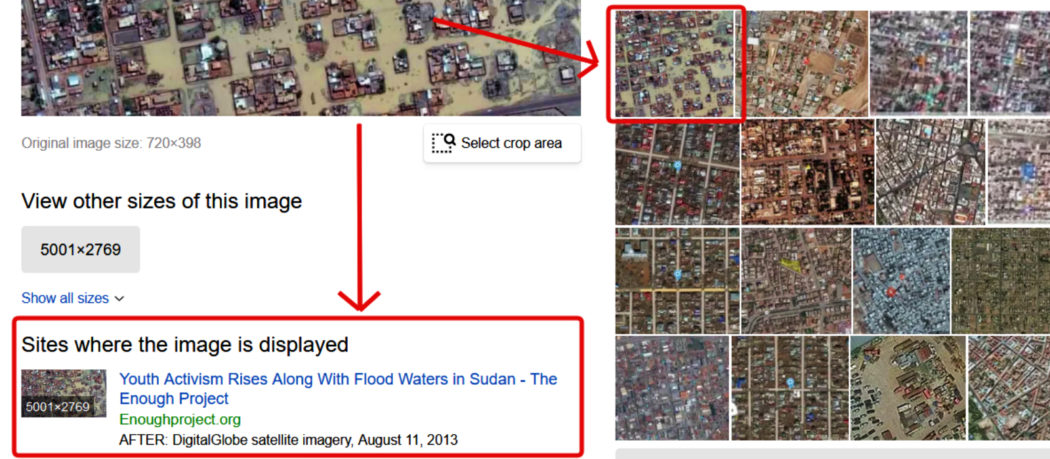 مصدر الصورة الأصلية لادعاء فيضانات السودان 2020 ويرجع ل 2013