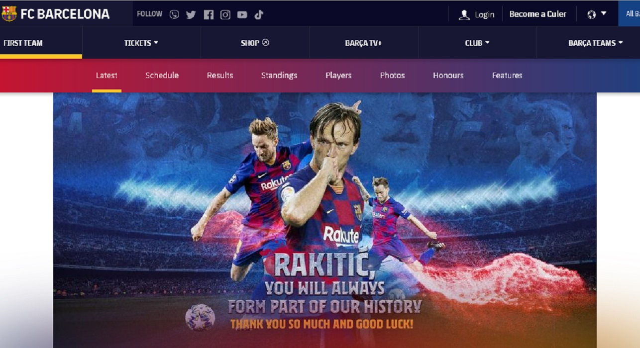 ادعاء زائف جزئي برشلونة يبيع راكيتيتش ب 87 يورو - فتبينوا