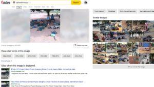نتائج بحث محرك Yandex عن ادعاء زائف جزئي أطفال في السودان
