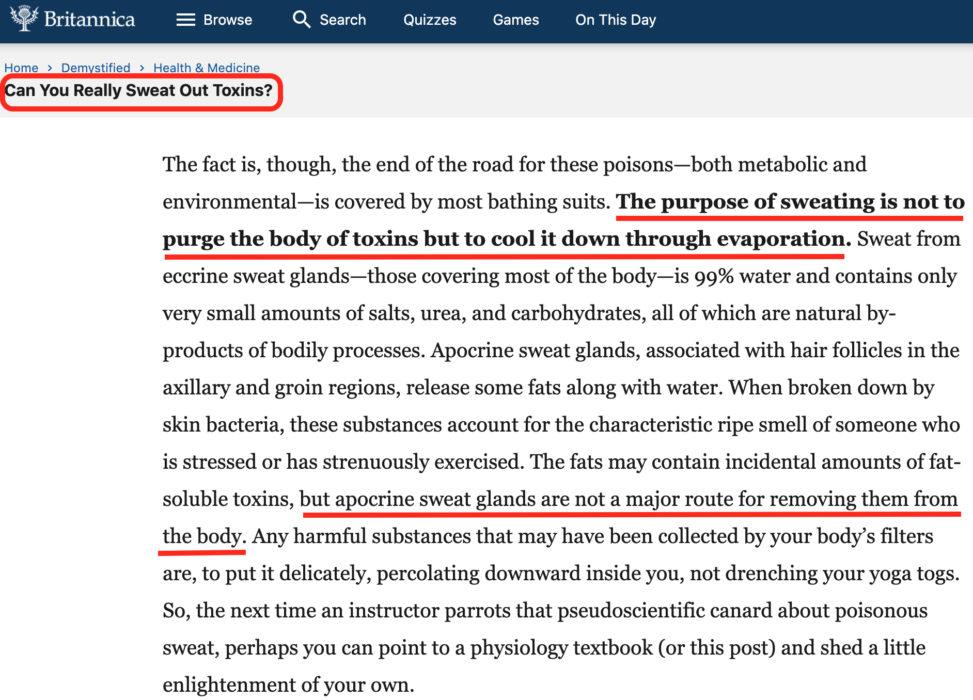 الساونا تساعد في التخلص من السموم كذب
