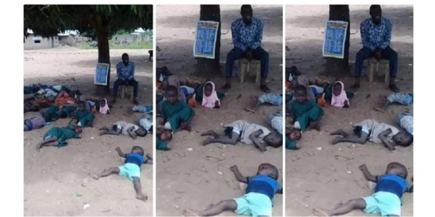 صحيفة correct neg تنشر صورة أطفال مدرسة في نيجيريا - فتبينوا - ادعاء زائف جزئي