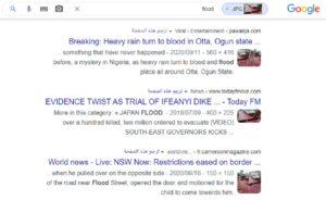 نتائج بحث ادعاء الأمطار في نيجيريا بلون الدم - زائف جزئي