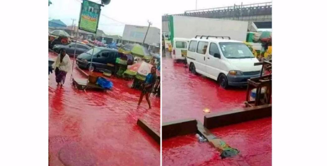 ادعاء الأمطار في نيجيريا كانت بلون الدم هو ادعاء زائف جزئي فتبينوا