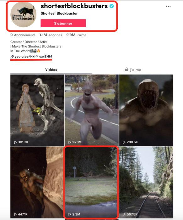 عمل فني على الحاسوب هو حقيقة فيديو مخلوق مرعب