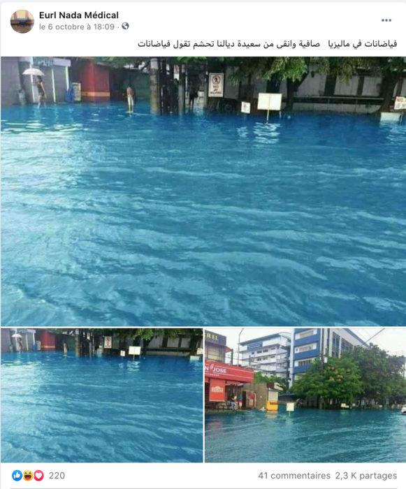 ادعاء زائف فيضانات في ماليزيا