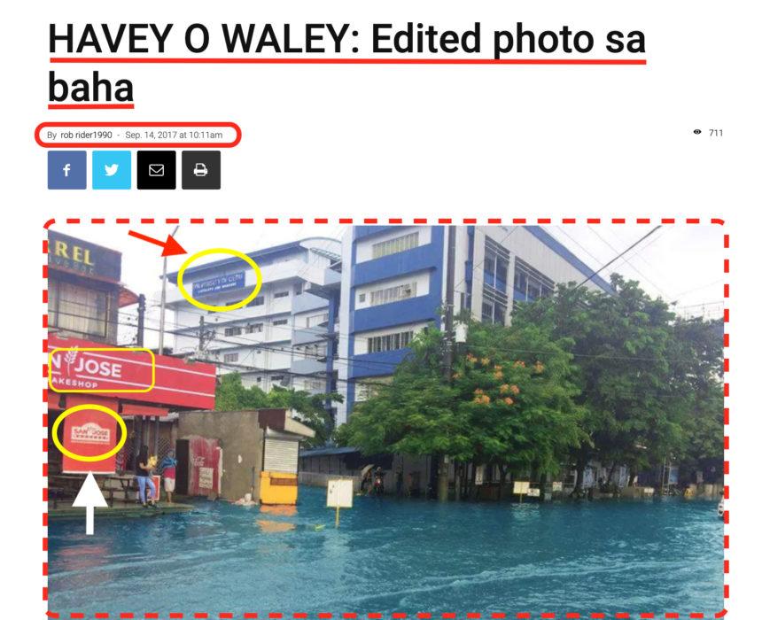 صورة تظهر جامعة Cebu في الفلبين وليس ماليزيا