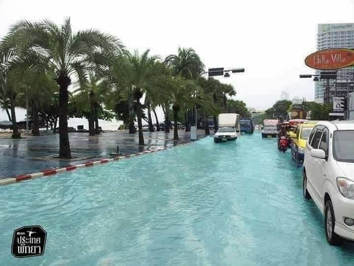 صورة زائفة فيضانات في Pattaya تايلاند