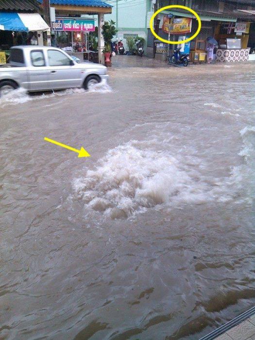 صورة حقيقية فيضانات في تايلاند