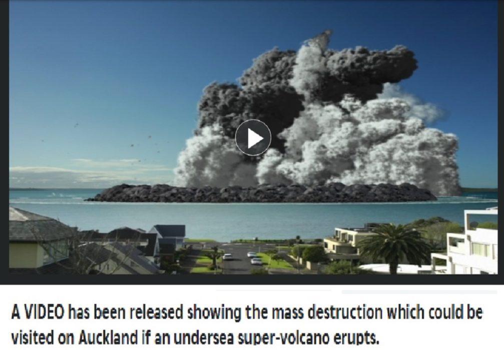 انفجار بركان في أندونيسيا والحقيقة أنه محاكاة لانفجار بركان في نيوززيلندا عنوان مضلل فتبينوا