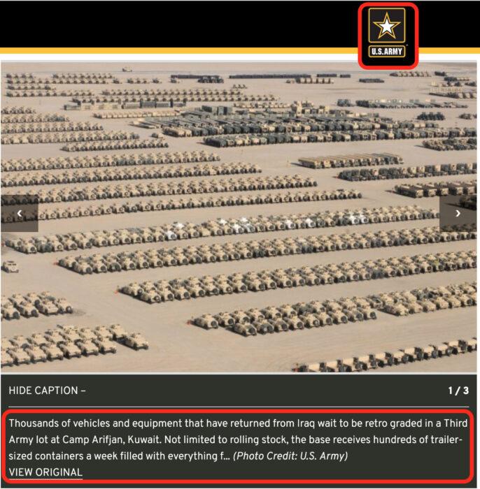 سحب عتاد عسكري أمريكي من العراق