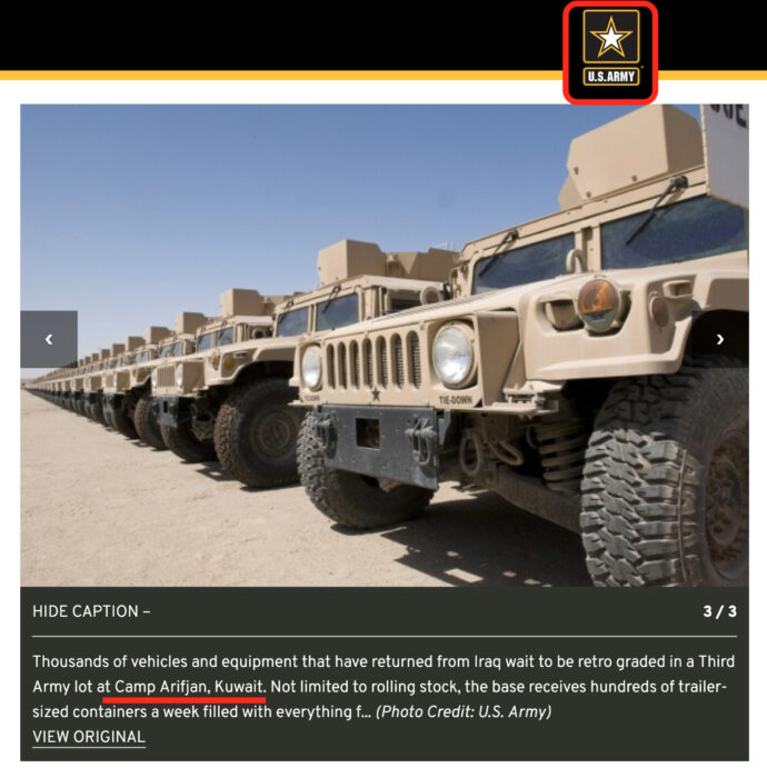 هذا عتاد عسكري يجري سحبه من العراق عام 2010 وليس سوق متلاشيات