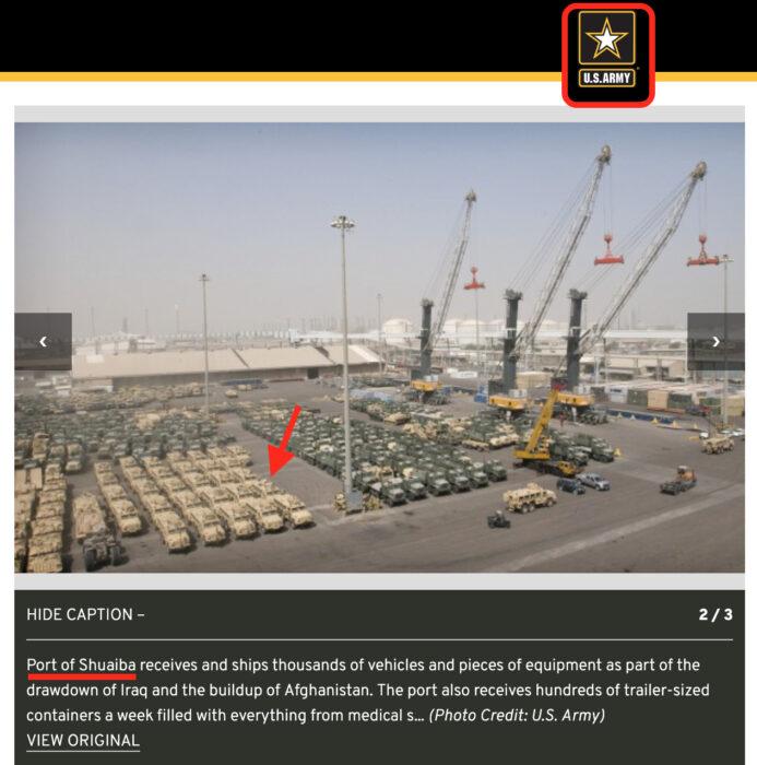 لا علاقة للصورة بسوق متلاشيات في الجزائر بل هو عتاد أمريكي في العراق