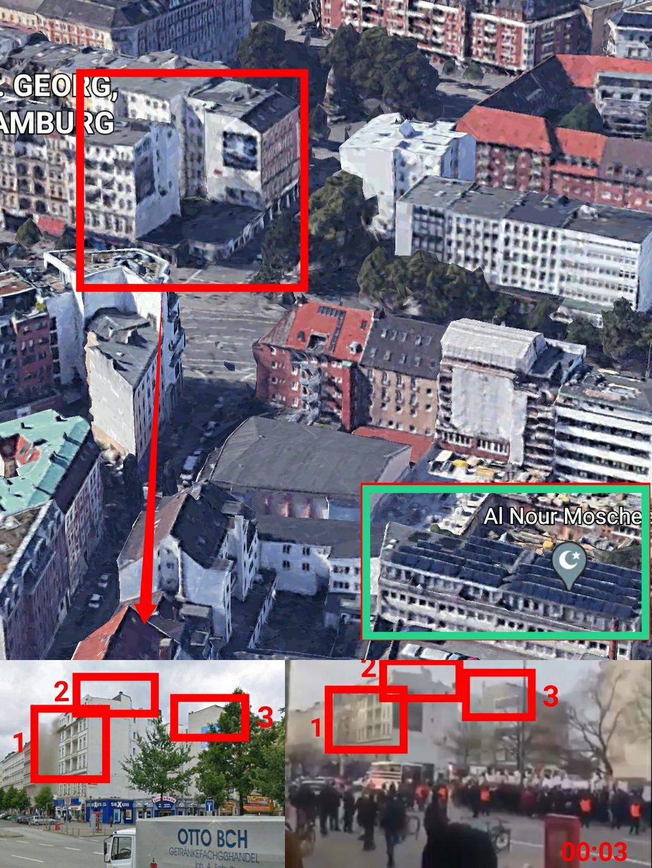 صورة تظهر الشارع الذي حصلت به المظاهرات