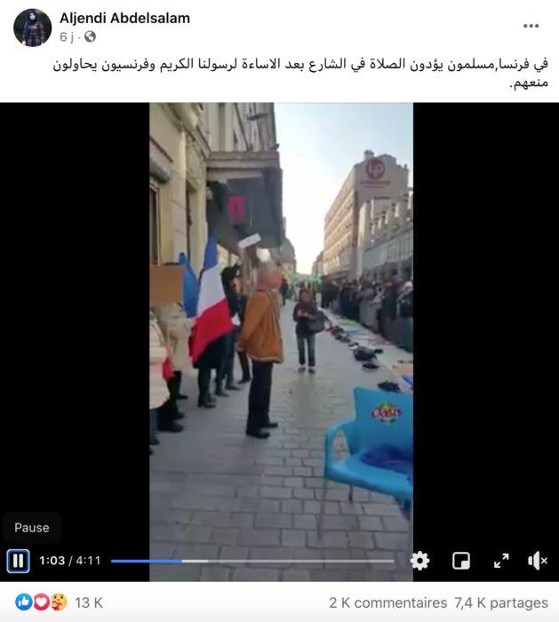 احتجاج في فرنسا ضد الصلاة في الشارع العام