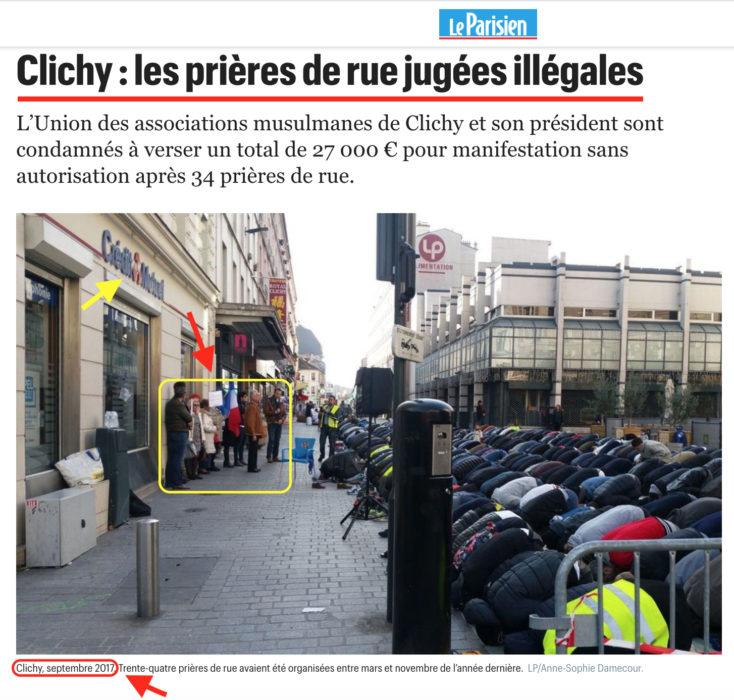 احتجاج قديم ضد إقامة الصلاة في clichy ضواحي باريس