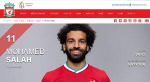 محمد صلاح من موقع ليفربول فتبينوا