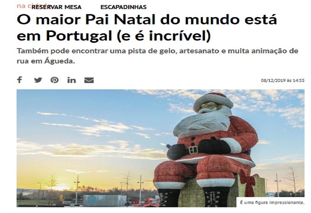 أكبر بابا نويل في أجويدا البرتغال