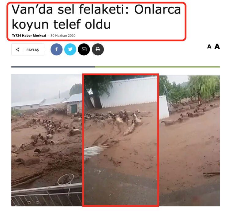 هذه فيضانات وسيول مائية في تركيا وليس المغرب