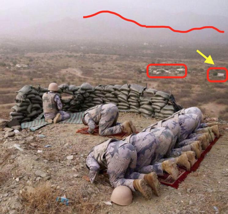 هؤلاء جنود من الجيش السعودي