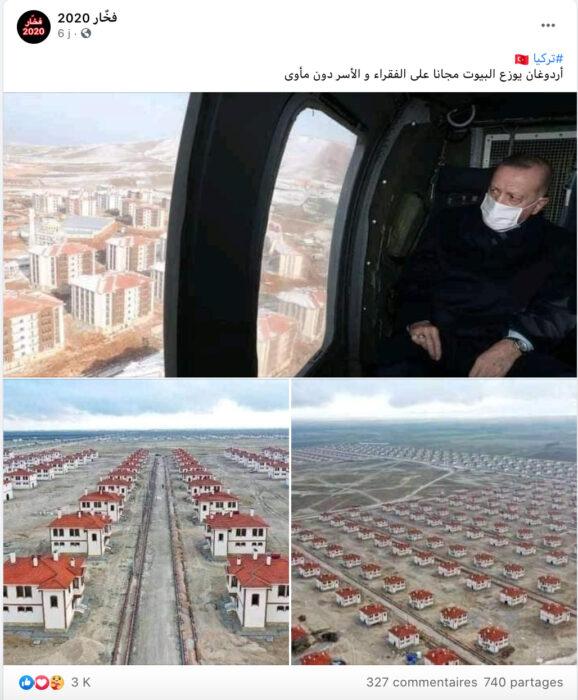 الرئيس التركي أردوغان يوزع مساكن بالمجان على الفقراء والمشردين