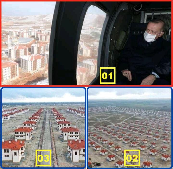 ادعاء مضلل الرئيس طيب رجب أردوغان لم يوزع مساكن بالمجان على الفقراء والمشردين