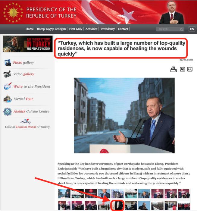 هذه الصور لا تظهر توزيع الرئيس التركي أردوغان منازل على الفقراء والمشردين